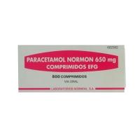 PARACETAMOL NORMON 650 mg COMPRIMIDOS EFG, 500 comprimidos