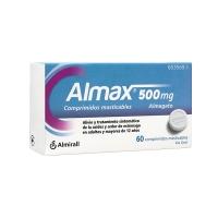 ALMAX 500 mg COMPRIMIDOS MASTICABLES, 60 comprimidos