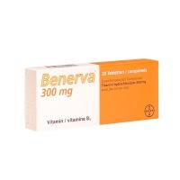 BENERVA 300 mg COMPRIMIDOS RECUBIERTOS CON PELICULA, 20 comprimidos
