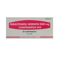PARACETAMOL NORMON 500 mg COMPRIMIDOS EFG, 20 comprimidos