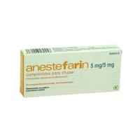 ANESTEFARIN 5 mg/5 mg COMPRIMIDOS PARA CHUPAR, 20 comprimidos