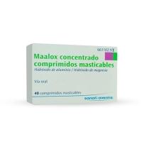 MAALOX   600 mg/ 300 mg COMPRIMIDOS MASTICABLES, 40 comprimidos