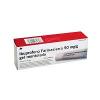 IBUPROFENO FARMASIERRA 50 mg/g GEL MENTOLADO, 1 tubo de 60 g