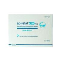 APIRETAL 325 mg COMPRIMIDOS BUCODISPERSABLES, 24 comprimidos