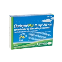 CLARITYNE PLUS 10mg/240mg COMPRIMIDOS DE LIBERACION PROLONGADA, 7 comprimidos