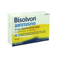 BISOLVON ANTITUSIVO 15 mg SOLUCION ORAL EN SOBRES, 12 sobres