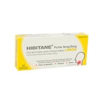 HIBITANE 5 mg/5 mg COMPRIMIDOS PARA CHUPAR SABOR LIMON, 20 comprimidos