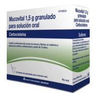 MUCOVITAL 1,5 GRANULADO PARA SOLUCION ORAL, 20 sobres
