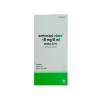 AMBROXOL CINFA 15 mg/5 ml JARABE EFG, 1 frasco de 200 ml