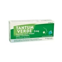 TANTUM VERDE 3 mg PASTILLAS PARA CHUPAR SABOR EUCALIPTO, 20 pastillas