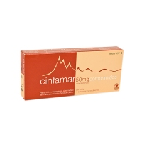 CINFAMAR 50 mg COMPRIMIDOS RECUBIERTOS, 4 comprimidos