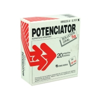 POTENCIATOR 5 g SOLUCION ORAL, 20 ampollas bebibles de 10 ml