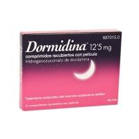 DORMIDINA DOXILAMINA 12,5 mg COMPRIMIDOS RECUBIERTOS CON PELICULA, 14 comprimidos