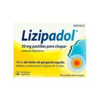 LIZIPADOL 20 mg PASTILLAS PARA CHUPAR, 18 pastillas