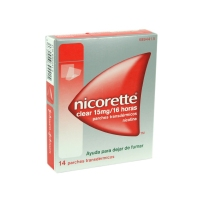 NICORETTE CLEAR 15 mg/16 HORAS PARCHES TRANSDERMICOS, 14 parches