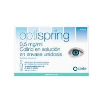 OPTISPRING 0,5 MG/ML COLIRIO EN SOLUCION EN ENVASES UNIDOSIS, 10 envases unidosis de 0,5 ml