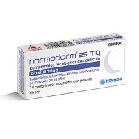 NORMODORM 25 MG COMPRIMIDOS RECUBIERTOS CON PELICULA, 14 comprimidos