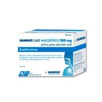 SANDOZCARE MUCOLITICO 200 mg POLVO PARA SOLUCION ORAL EFG, 20 sobres