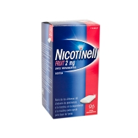 NICOTINELL FRUIT 2 mg CHICLE MEDICAMENTOSO, 96 chicles