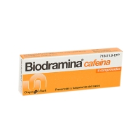 BIODRAMINA CAFEINA COMPRIMIDOS RECUBIERTOS, 4 comprimidos