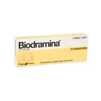 BIODRAMINA 50 mg COMPRIMIDOS, 4 comprimidos