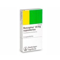 BUSCAPINA 10 mg SUPOSITORIOS, 6 supositorios