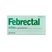 FEBRECTAL NIÑOS 300 mg SUPOSITORIOS, 6 supositorios