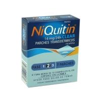 NIQUITIN CLEAR 14 mg, 24 HORAS PARCHE TRANSDERMICO, 7 parches