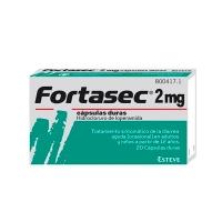 FORTASEC 2 mg capsulas duras, 20 cápsulas