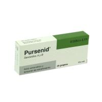 PURSENID GRAGEAS, 20 comprimidos