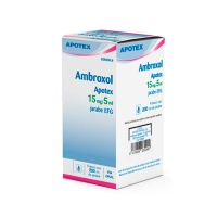 AMBROXOL APOTEX 15 mg/5 ml JARABE EFG, 1 frasco de 200 ml