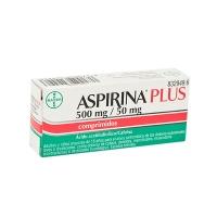 ASPIRINA PLUS 500 mg/ 50 mg COMPRIMIDOS, 20 comprimidos