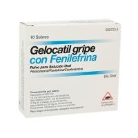 GELOCATIL GRIPE CON FENILEFRINA POLVO PARA SOLUCION ORAL, 10 sobres