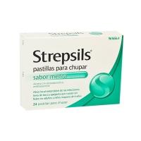 STREPSILS pastillas para chupar sabor menta, 24 pastillas