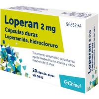 LOPERAN 2 mg CAPSULAS DURAS, 20 cápsulas
