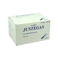JUSTEGAS 1.871 mg/1.398 mg GRANULADO EFERVESCENTE, 50 sobres